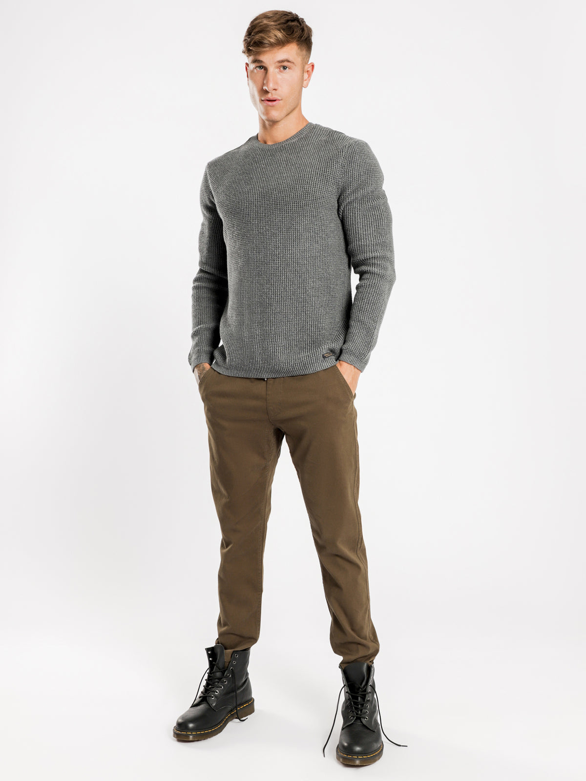 Camden Classic Knit in Charcoal