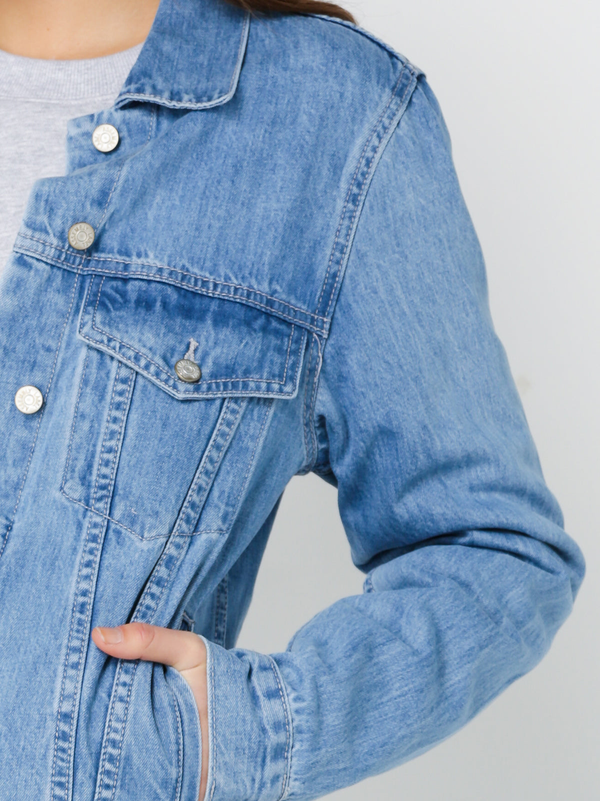 Boyfriend Denim Jacket in Blue
