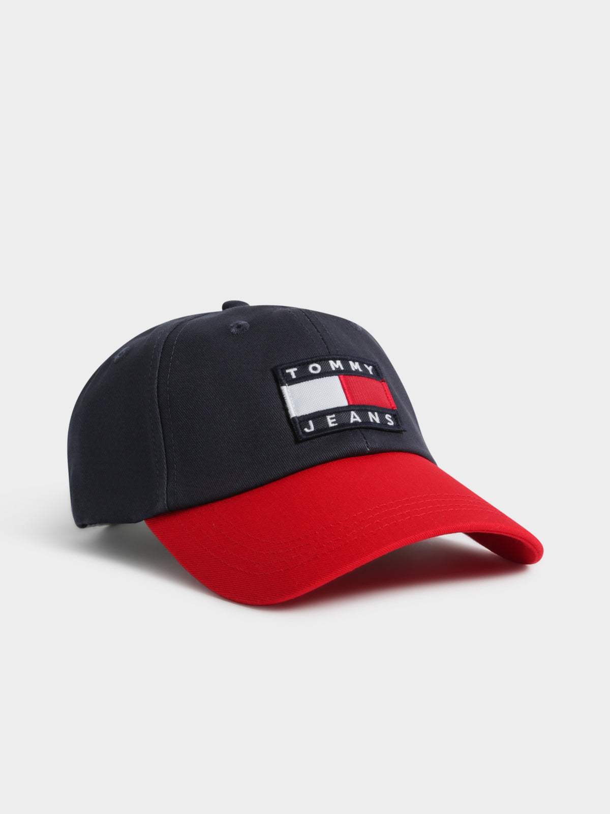 Heritage Baseball Cap in Navy Red & White
