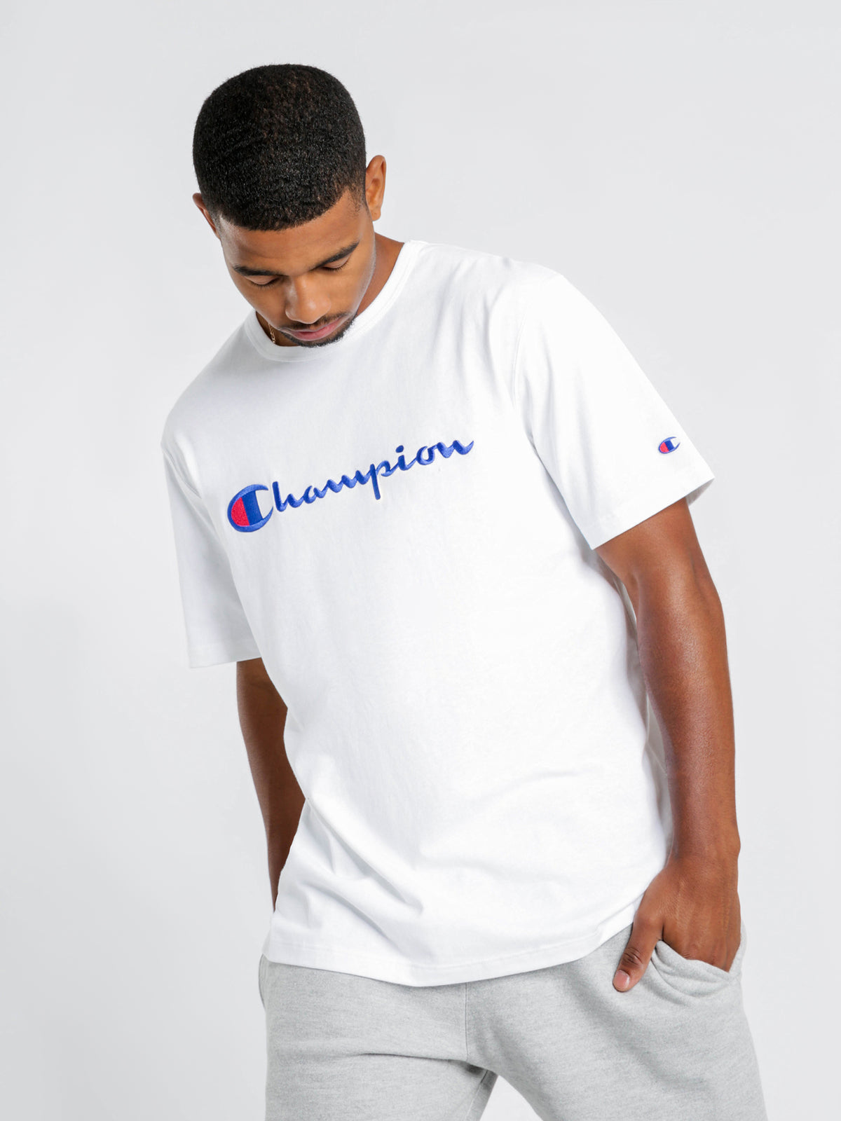Heritage Script Short Sleeve T-Shirt in White