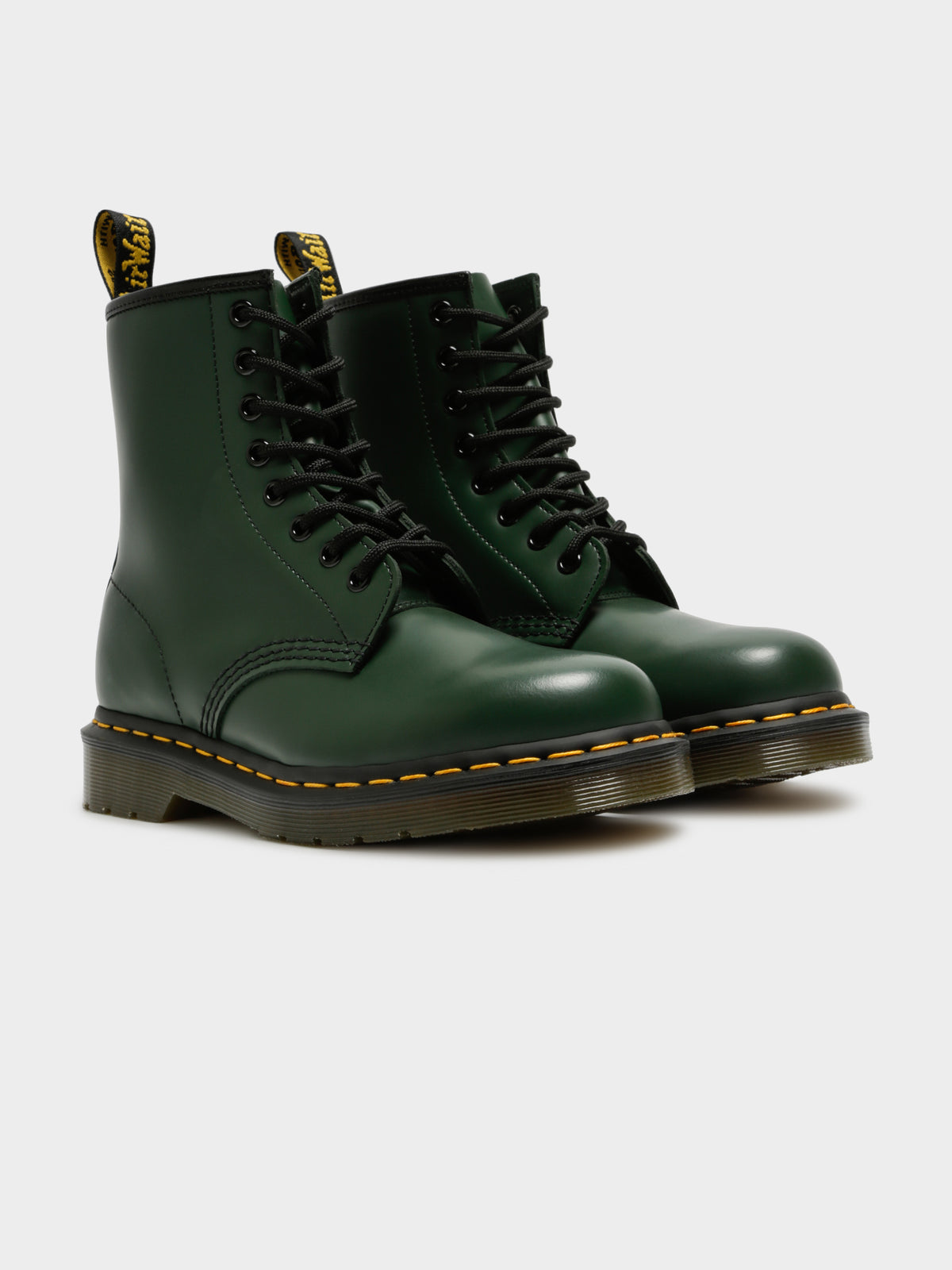 1460 Smooth Lace Up Boots in Green