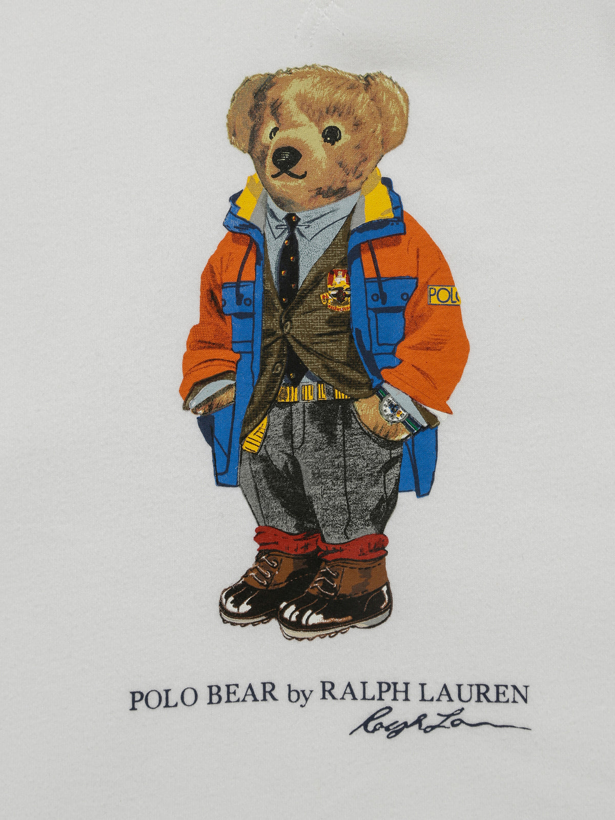 Polo Bear Crew Jumper in White