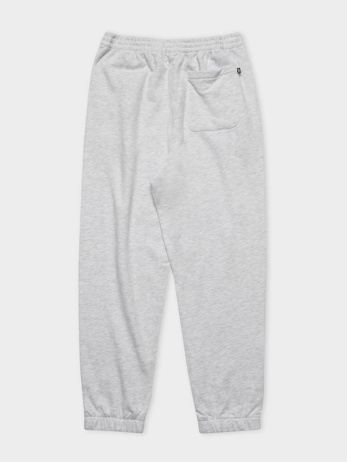 Text Fleece Trackpants in Grey