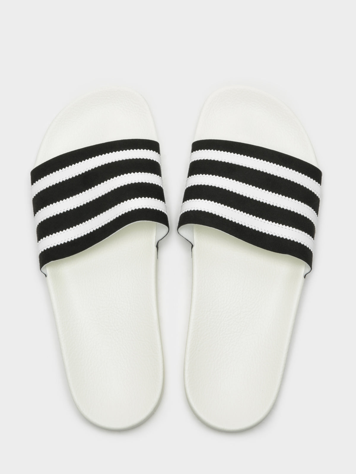 Unisex Adilette Slides in Black and White