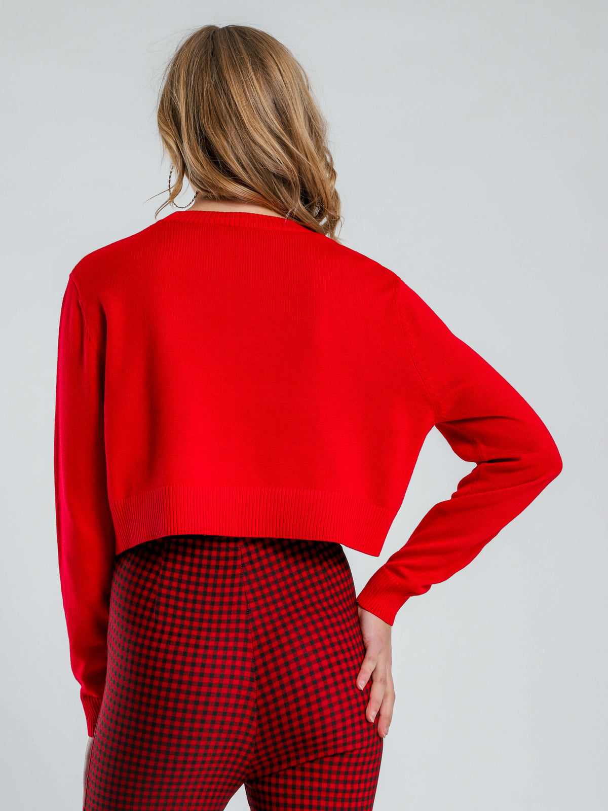 Lonely Hearts Knit Jumper in Red