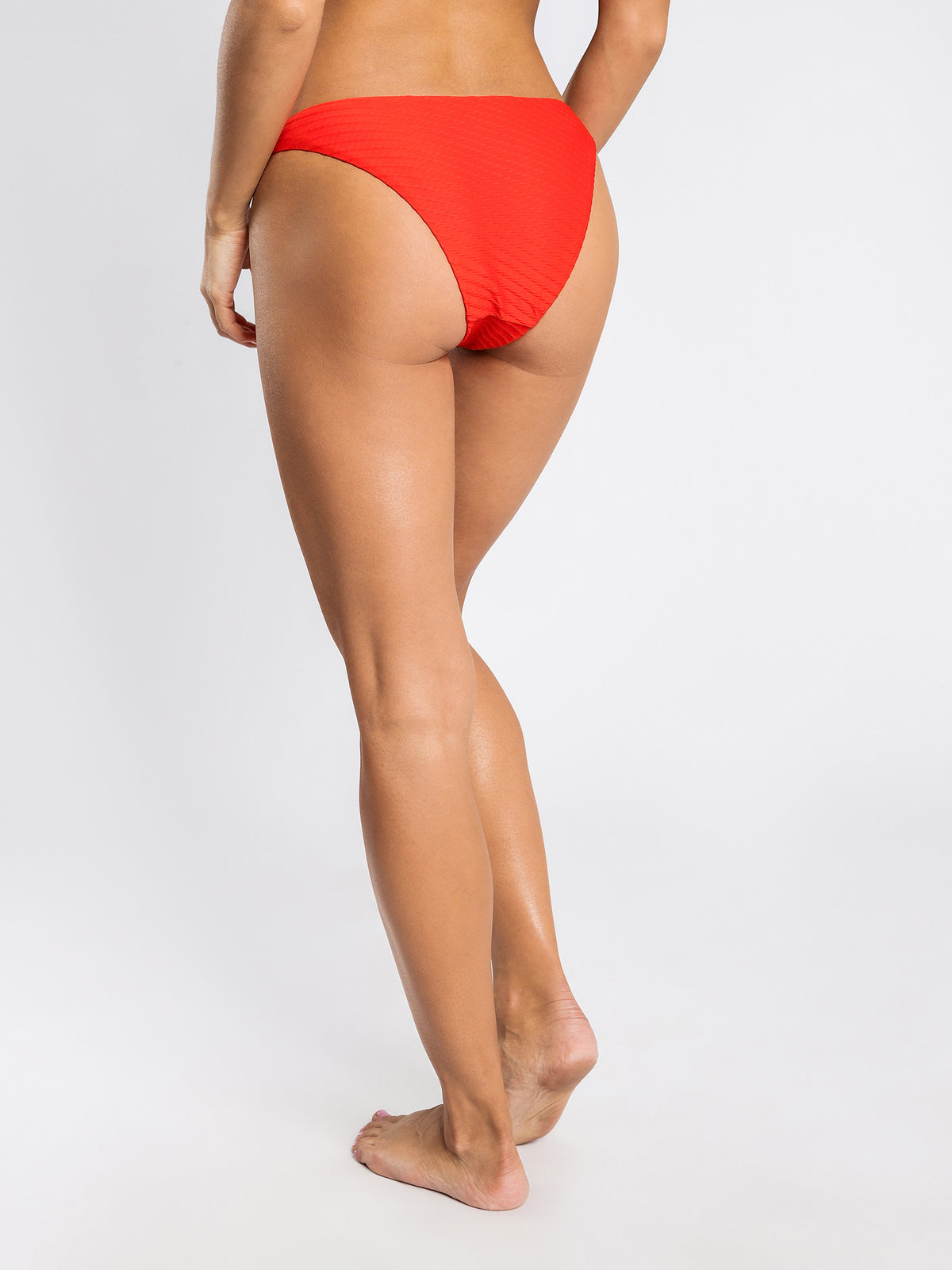 Shea High Leg Briefs in Cherry Red
