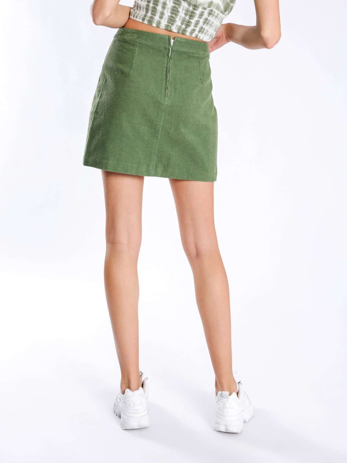Gemini Mini Skirt in Green