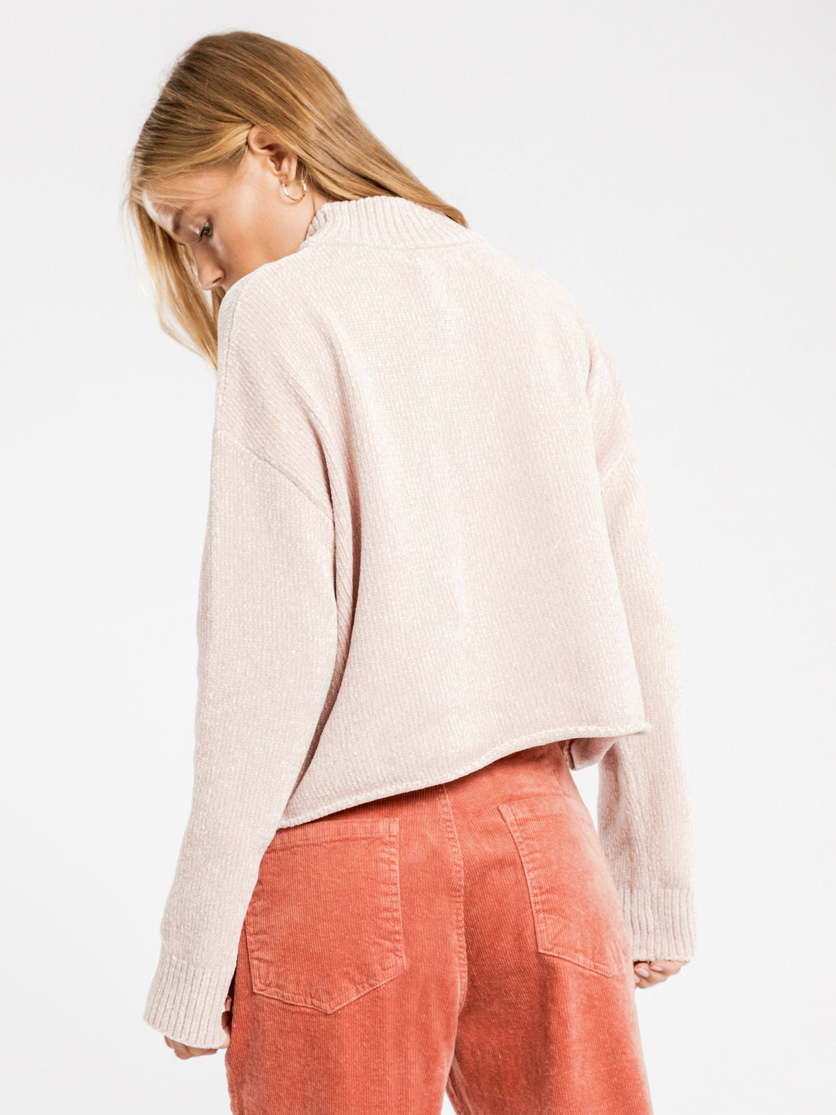 Chenille Crew Neck Knit in Cream