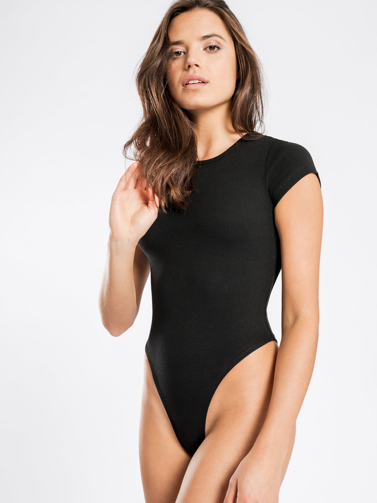 Brandy T-Shirt Bodysuit in Black
