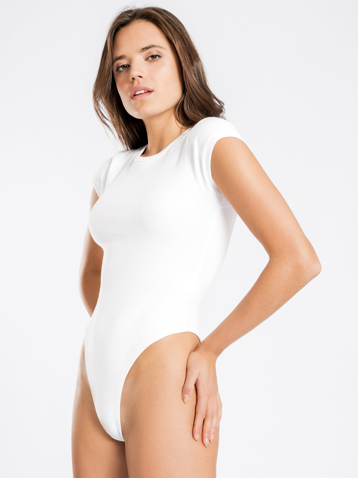Brandy T-Shirt Bodysuit in White
