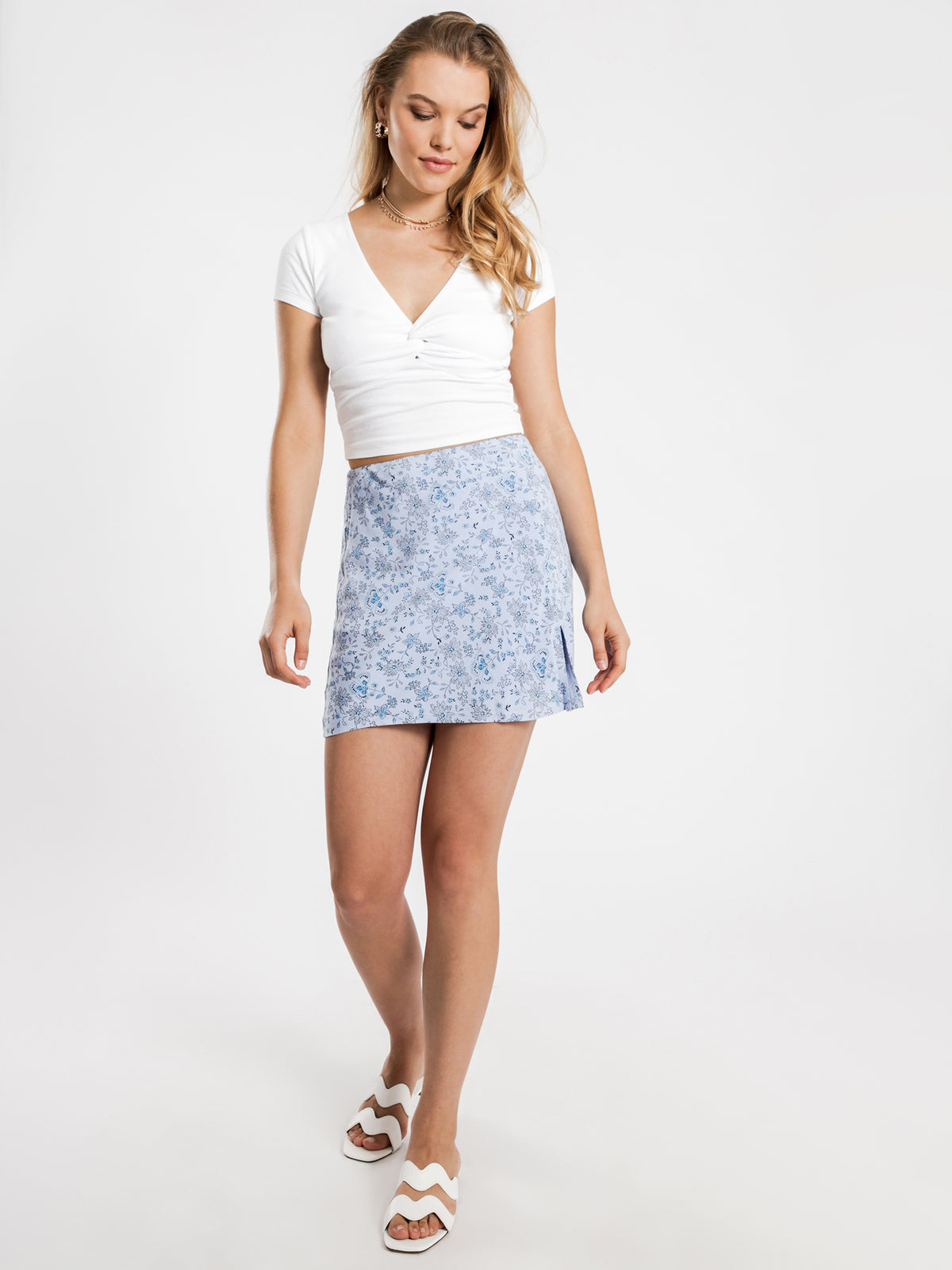 Nala Mini Skirt in Blue