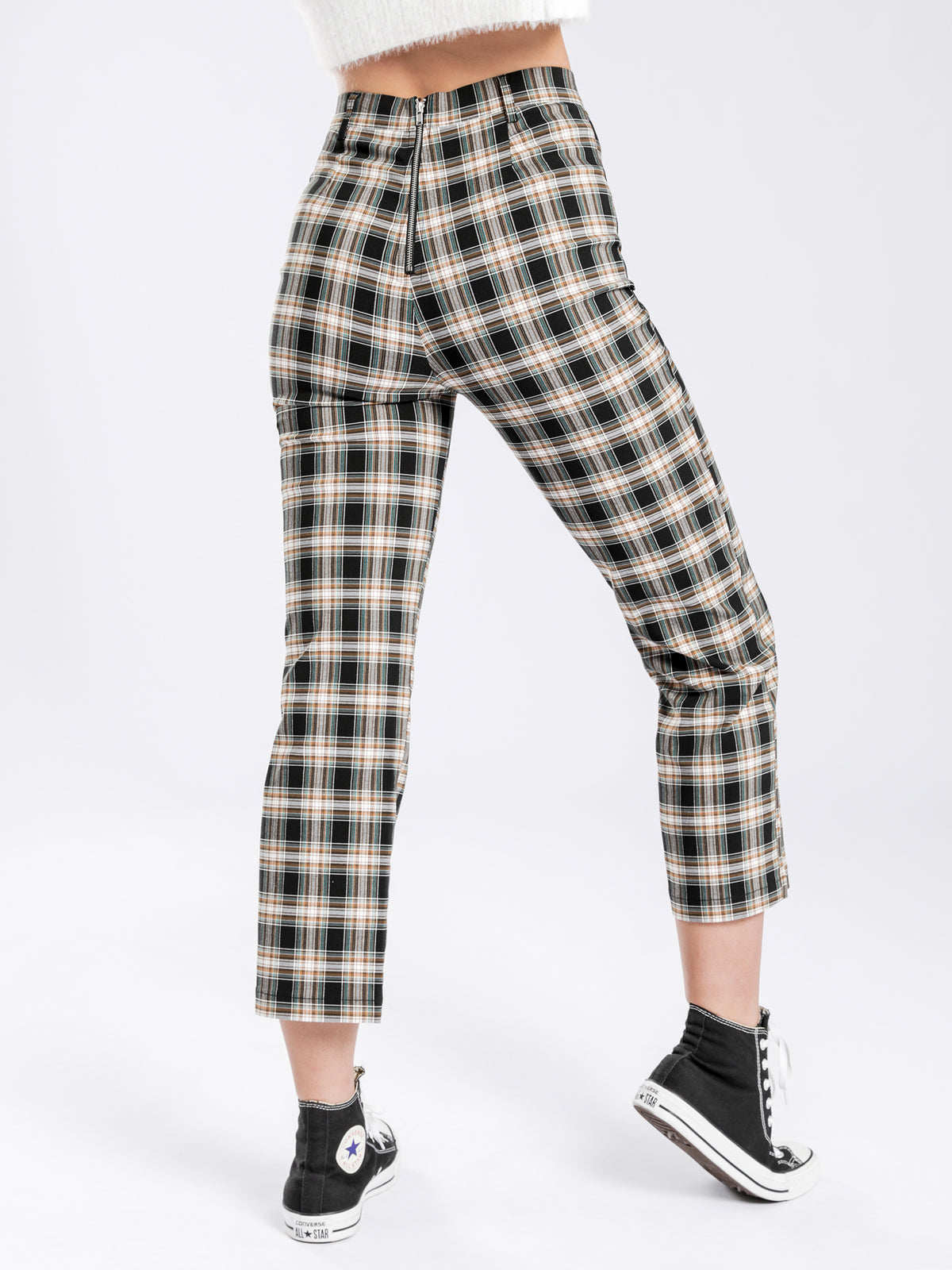 Carter Stretch Pants in Check