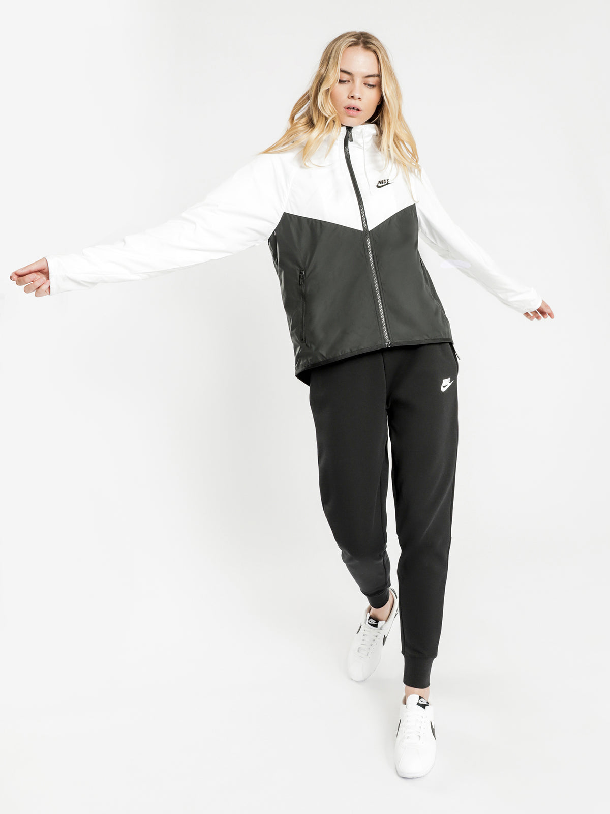 NSW Windrunner Jacket in Black & White