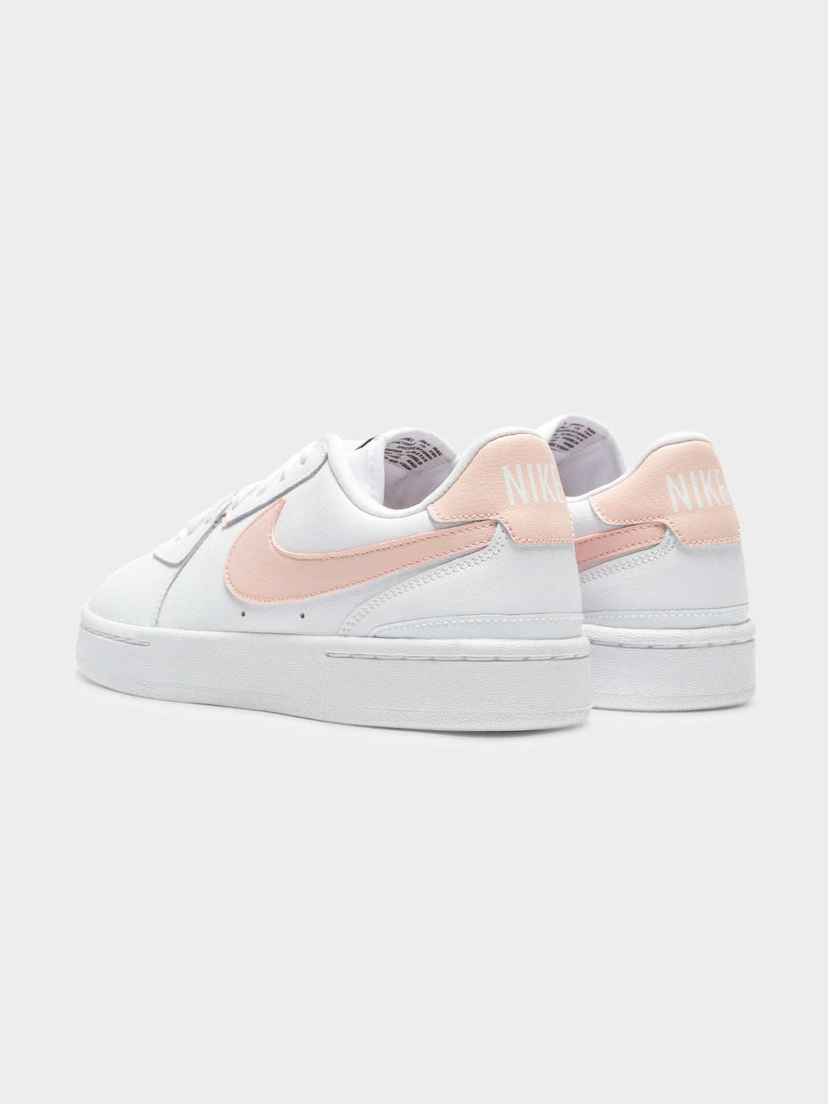 Womens Court Blanc Sneakers in White & Washed Coral