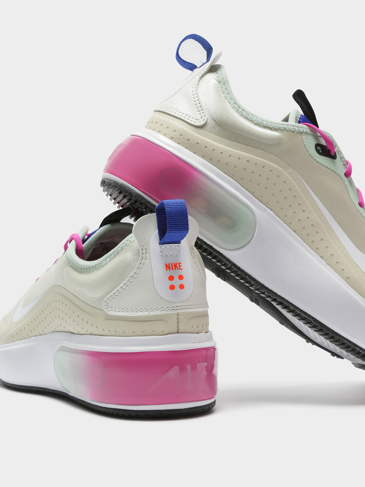 Womens Air Max Dia Sneakers in Fossil Pink & Green