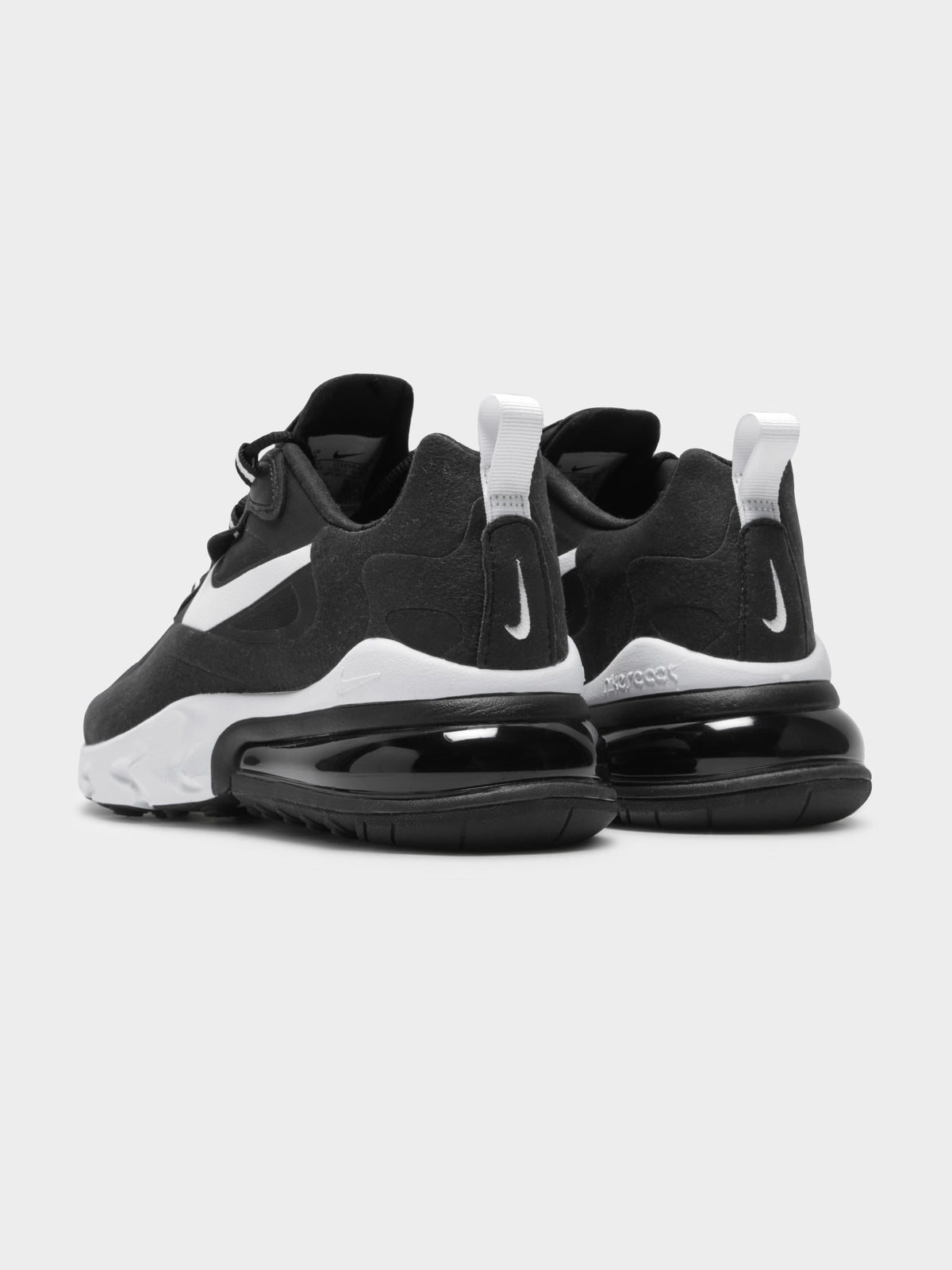 Womens Air Max React 270 Sneakers in Black & White