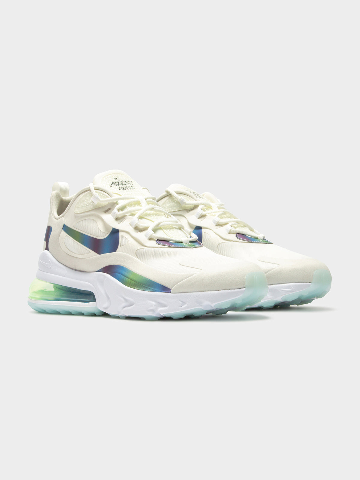 Mens Air Max 270 React Sneakers in White & Blue
