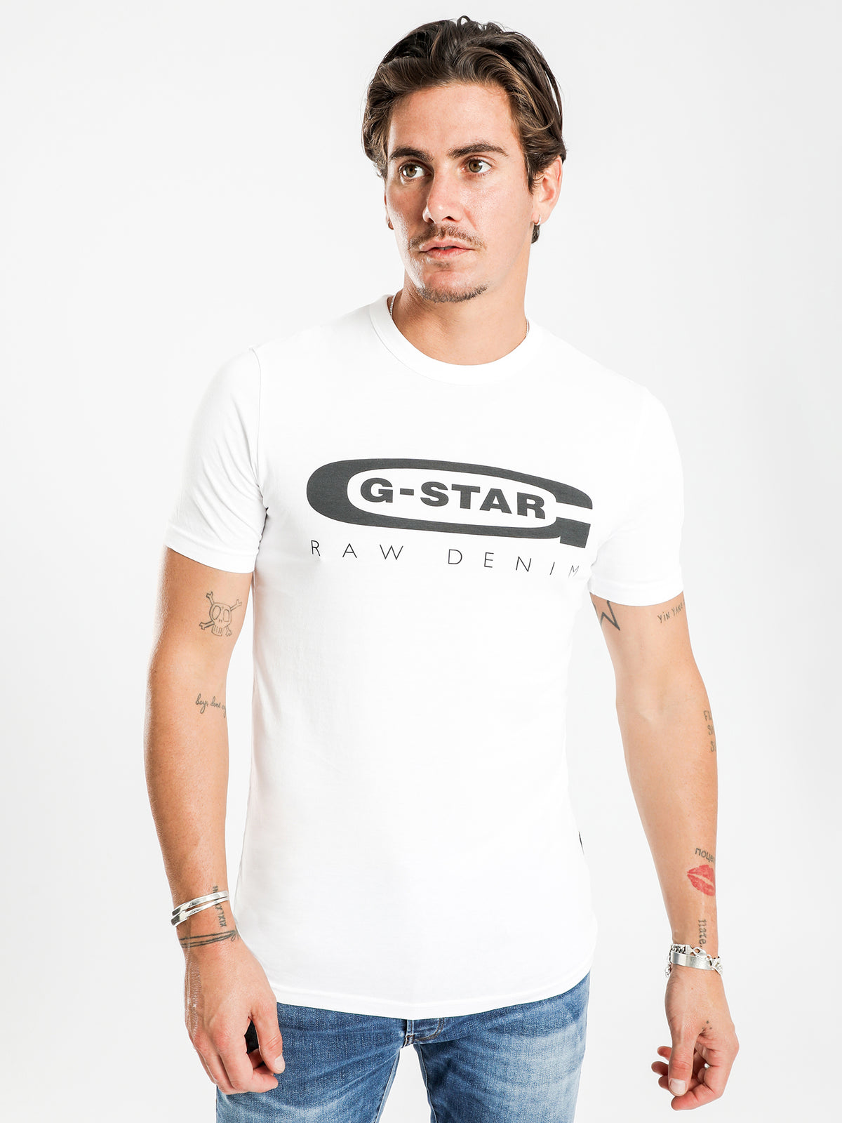 Graphic 4 Slim Fit T-Shirt in White