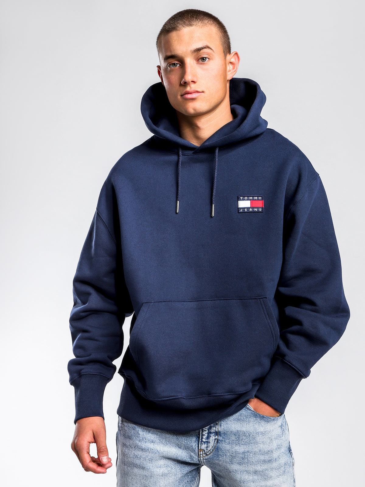 Badge Hoodie in Navy