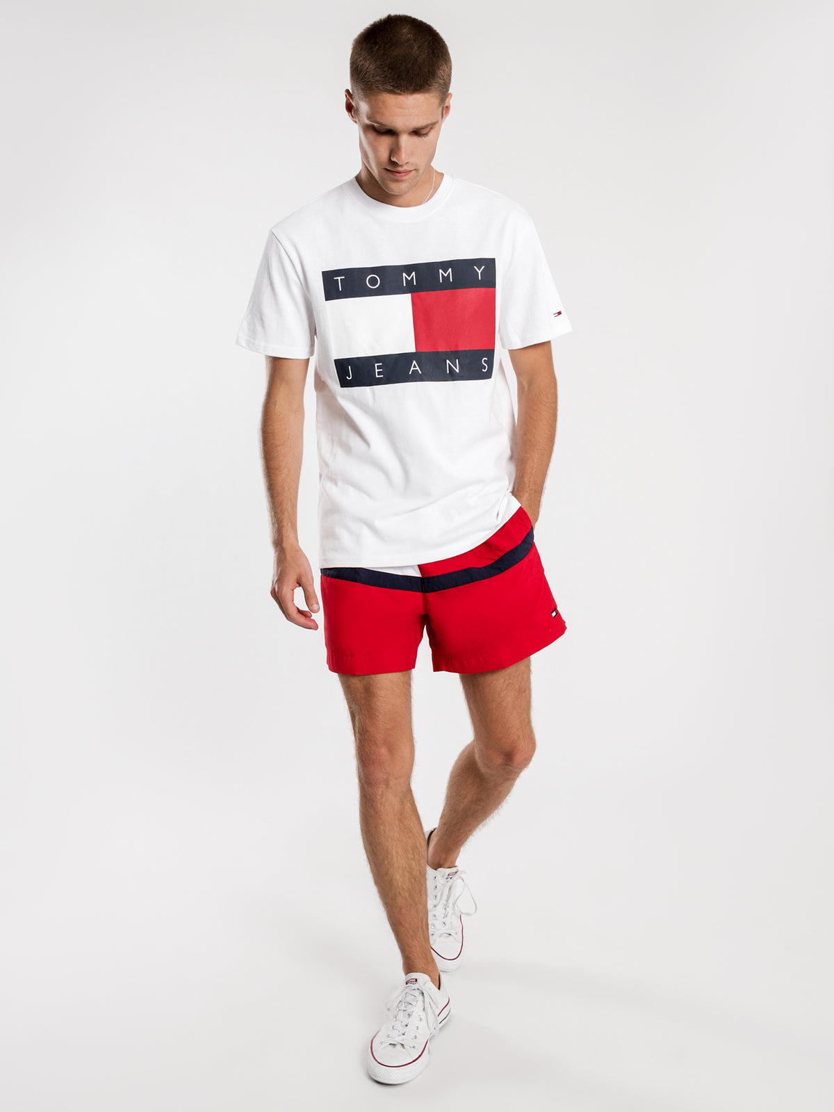 Tommy Flag T-Shirt in White