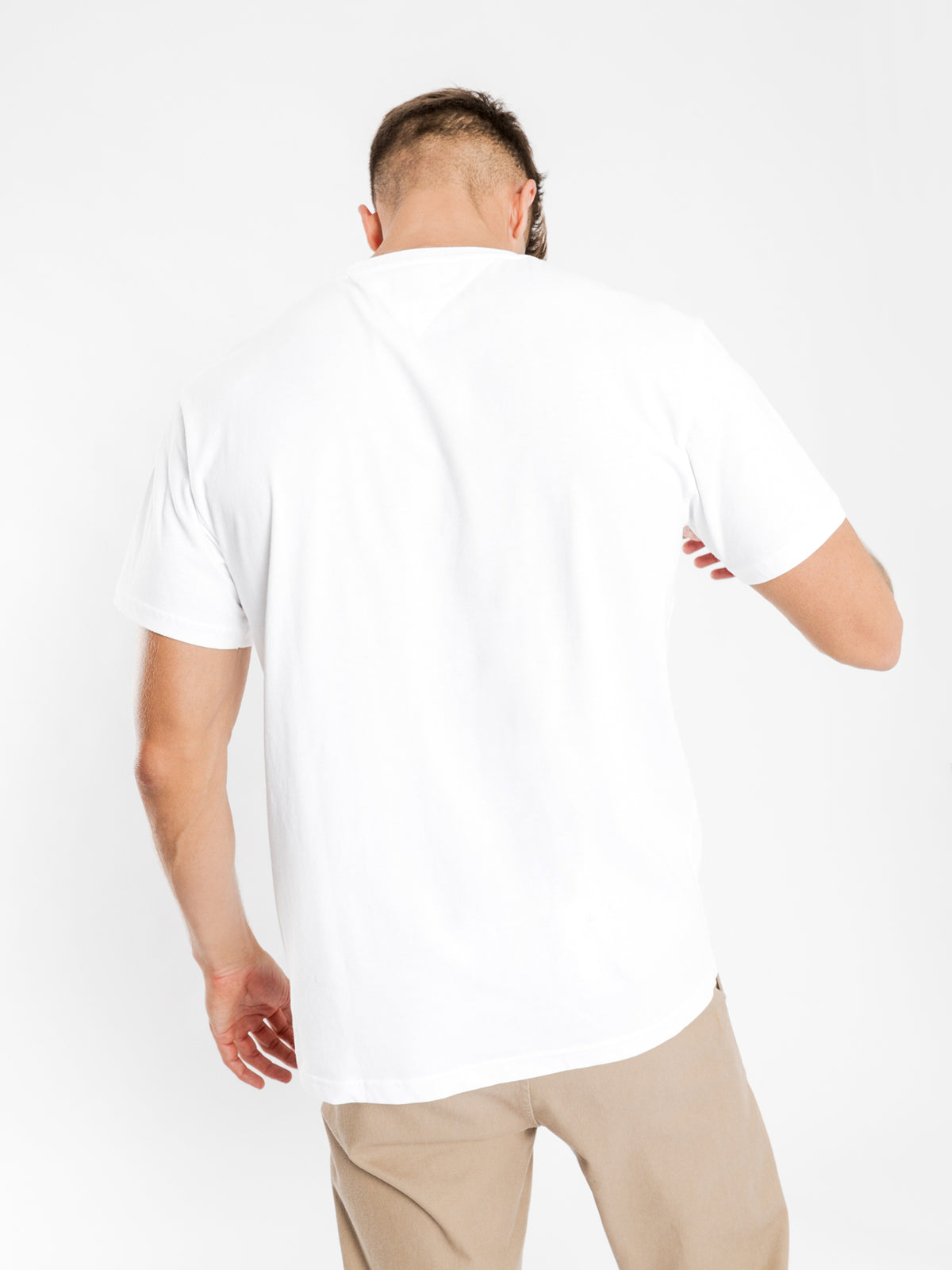 Flag Script T-Shirt in White