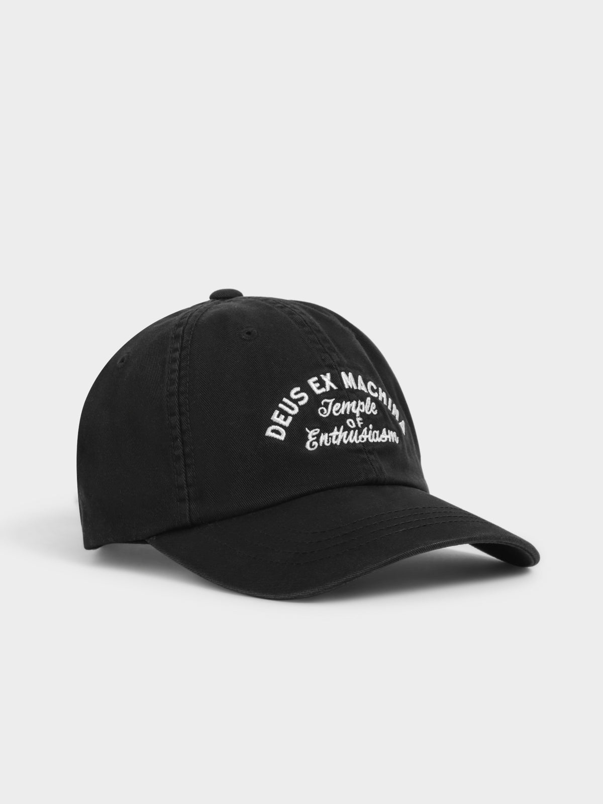 Classic Dad Temple Cap in Black