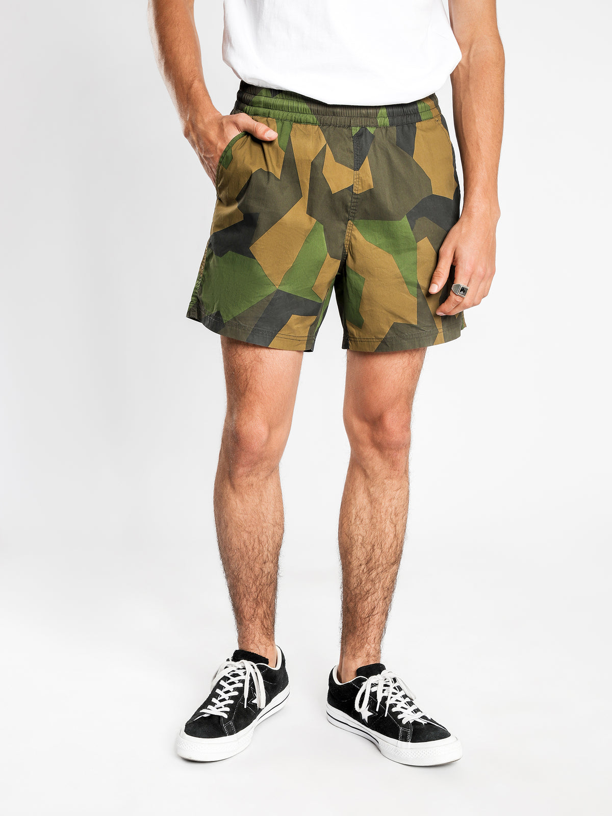 Glide Swim Shorts in Green Camo