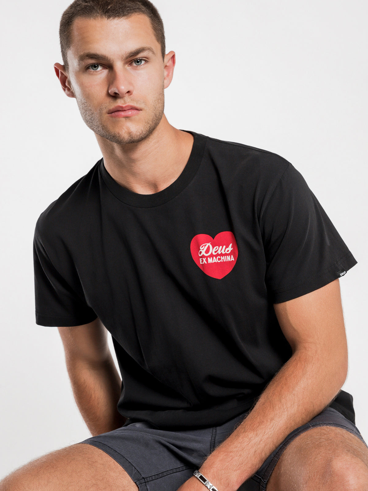 Amore Short Sleeve T-Shirt in Black