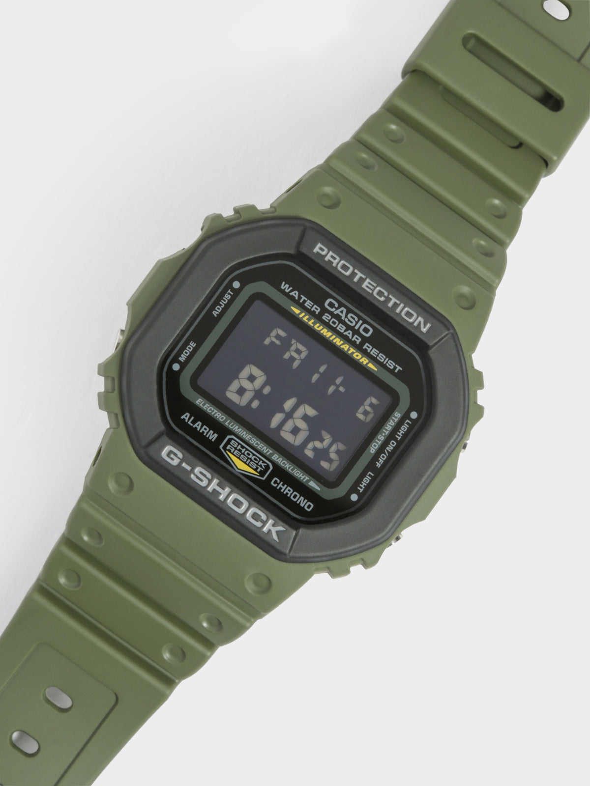 Square face DW-5600 Watch in Khaki