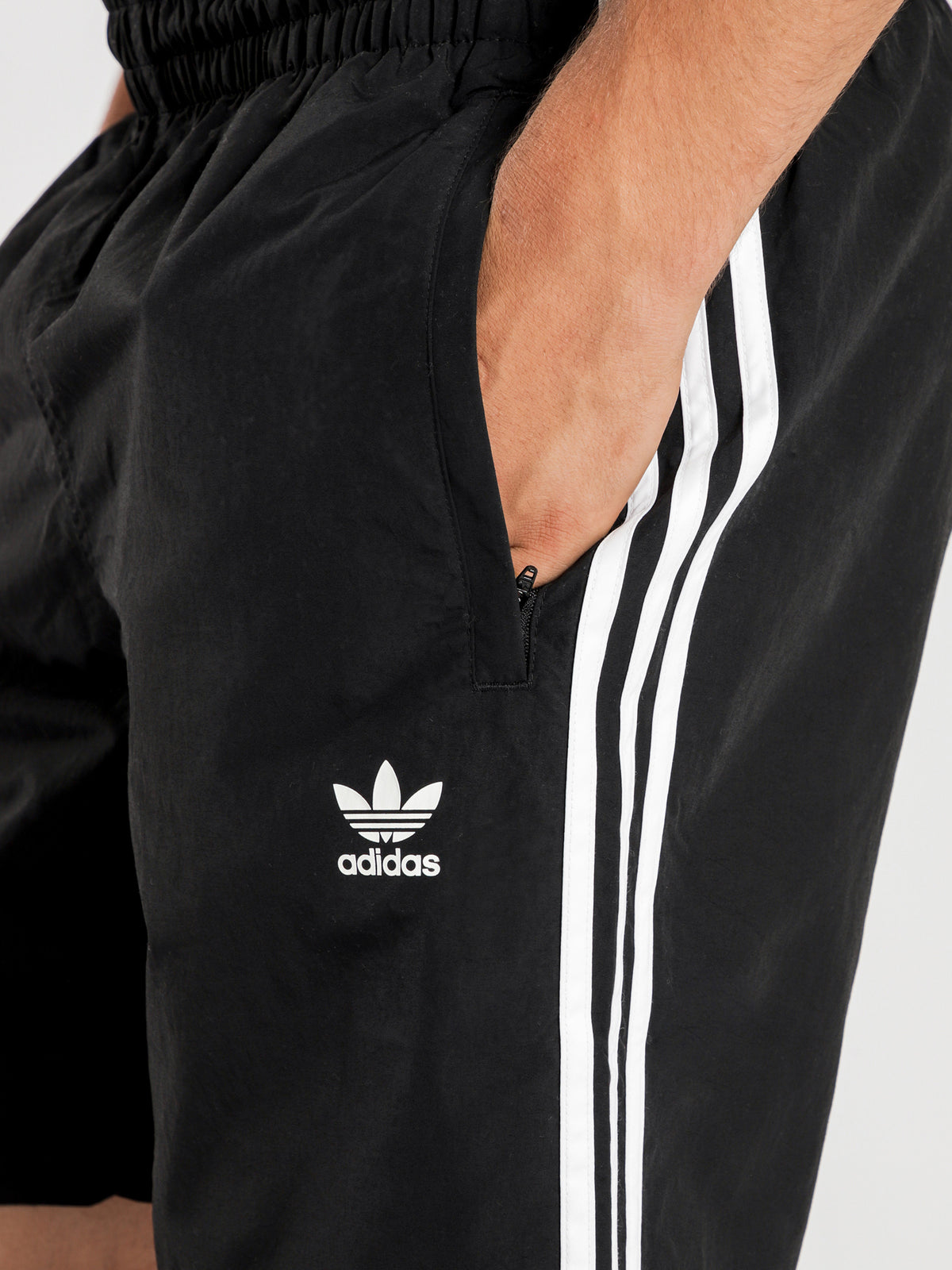3 Stripes Swim Shorts in Black
