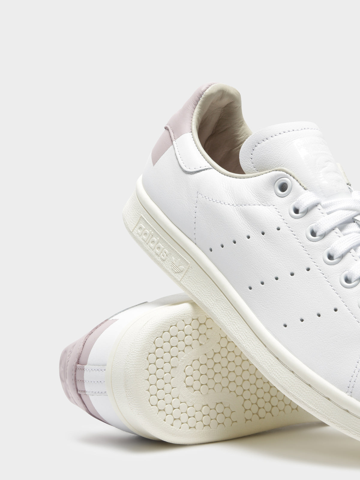 Womens Stan Smith Sneakers in Could White & Soft Vision Purple