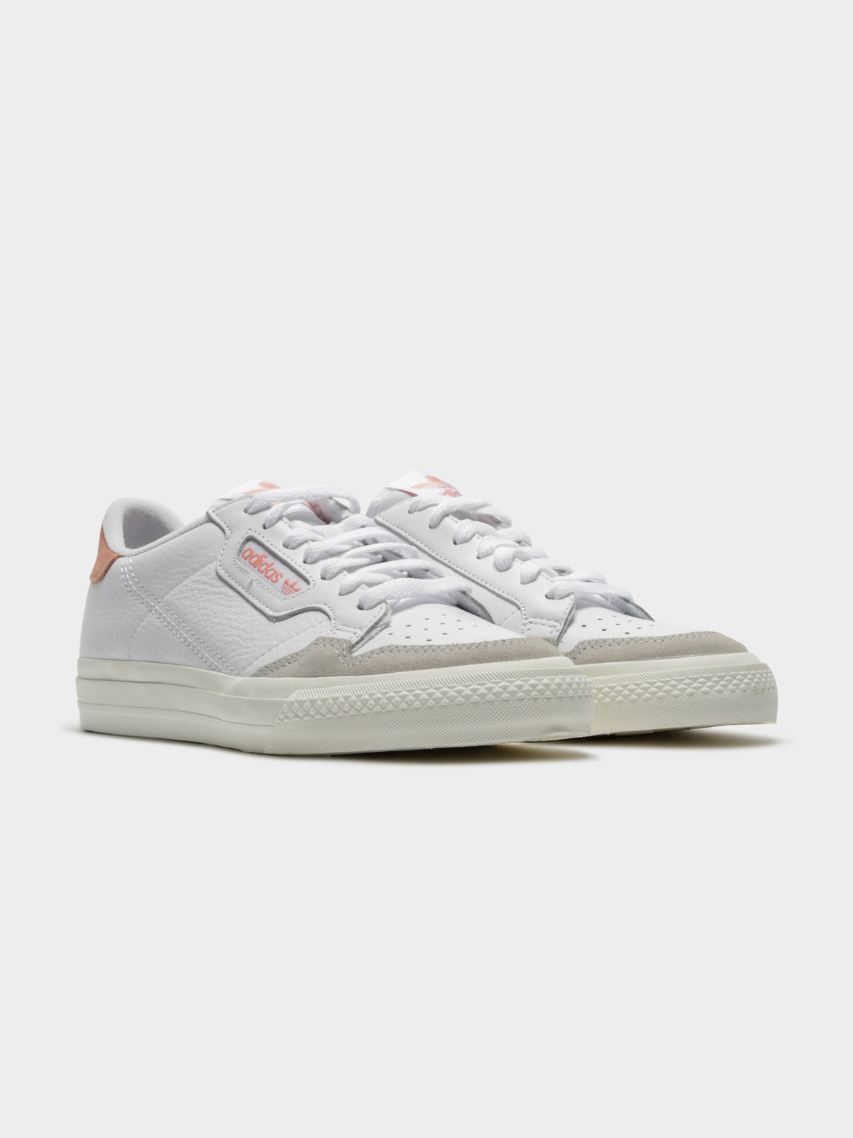 Womens Continental Vulc Sneakers in Cloud White & Glow Pink