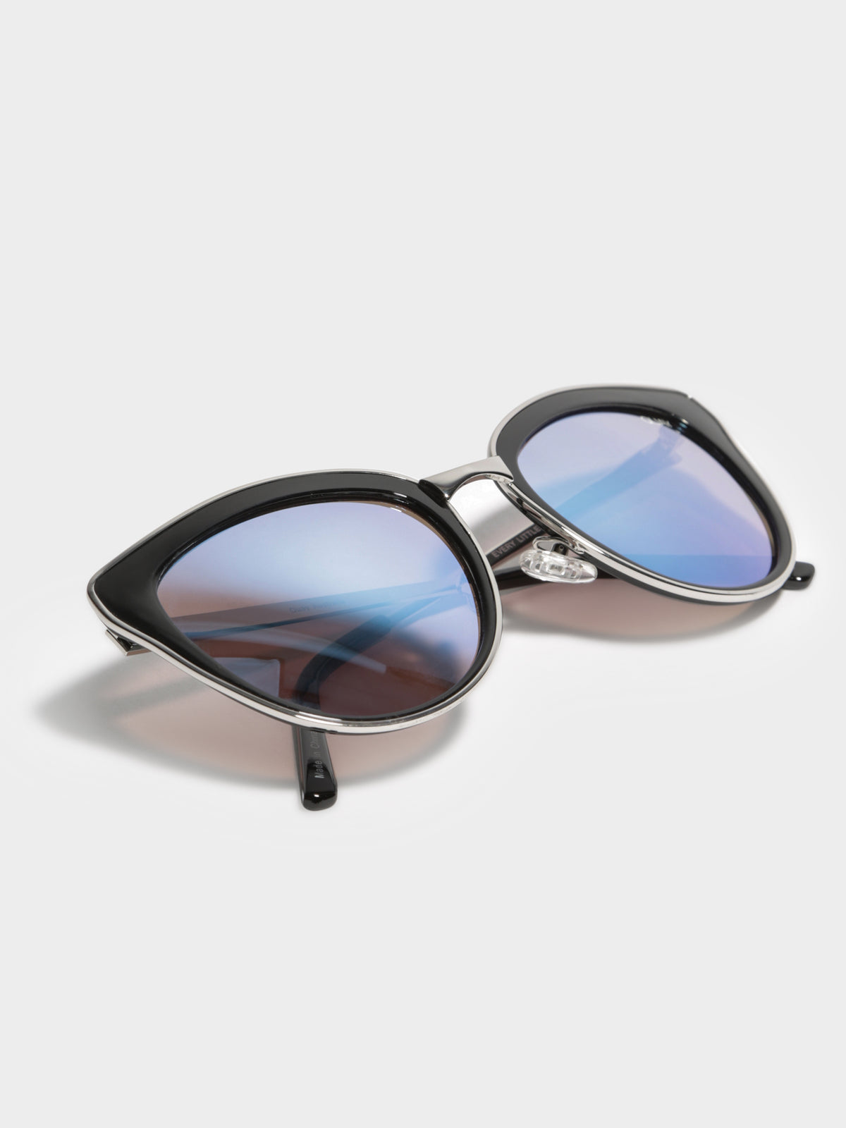 Every Little Thing Sunglasses in Black & Lilac