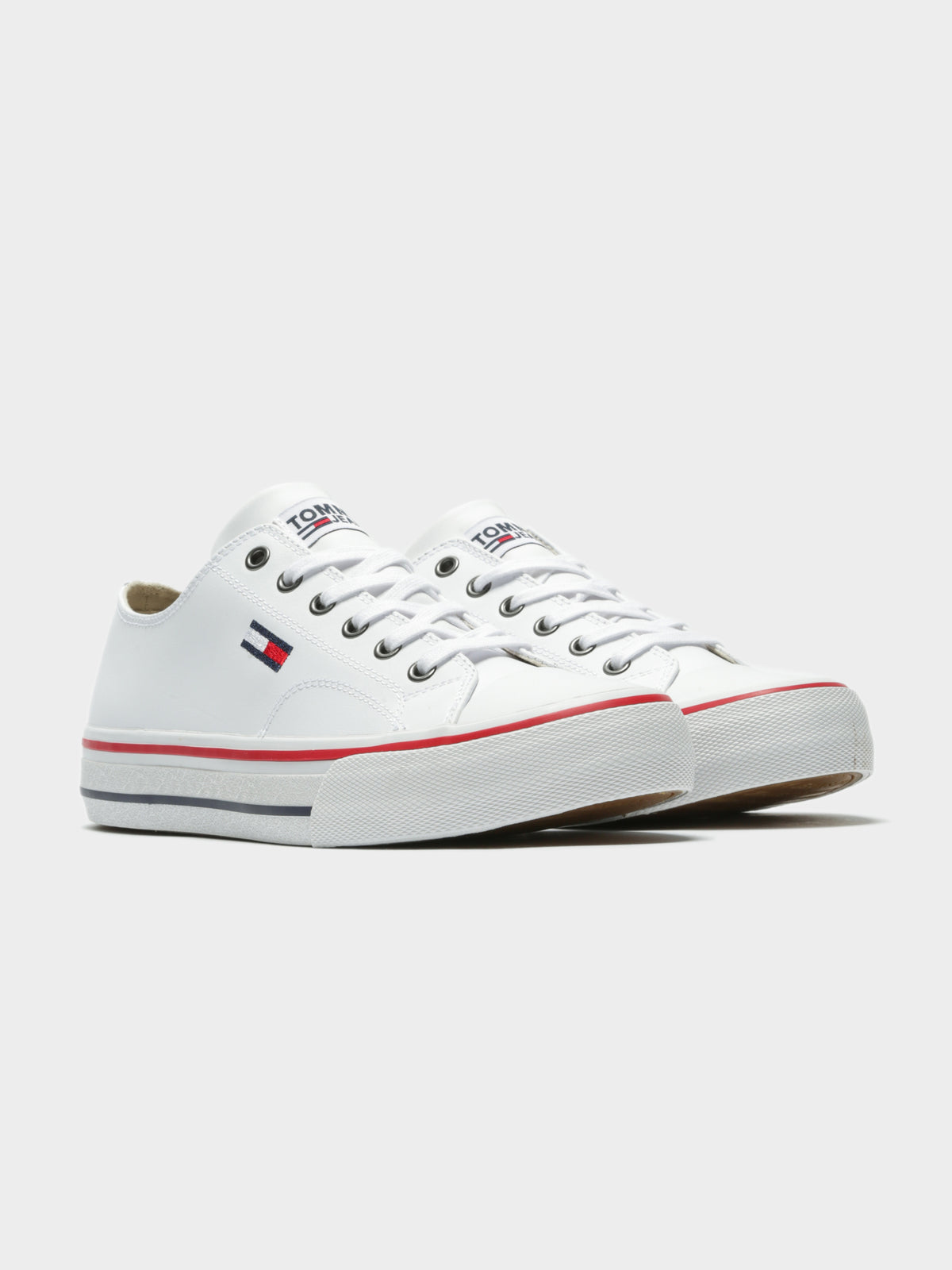 Unisex Leather City Sneakers in White