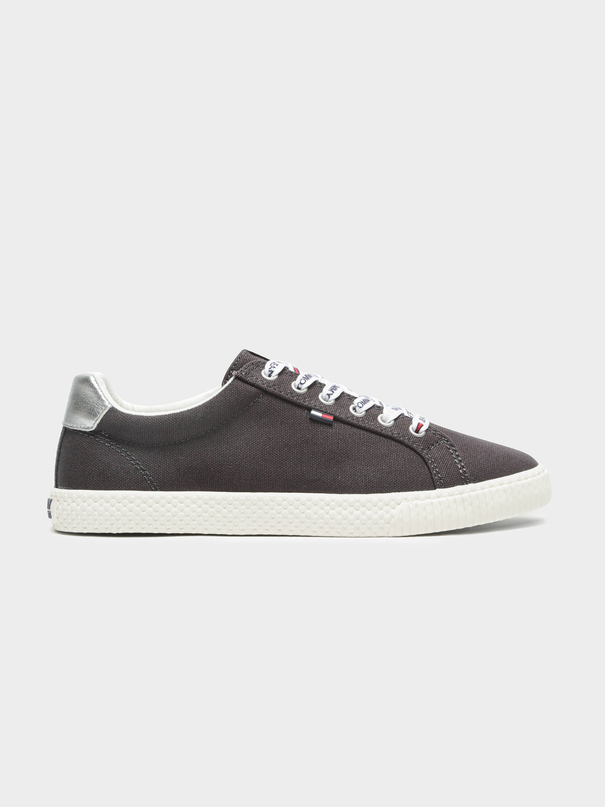 Womens Tommy Jeans Casual Sneaker in Black & White