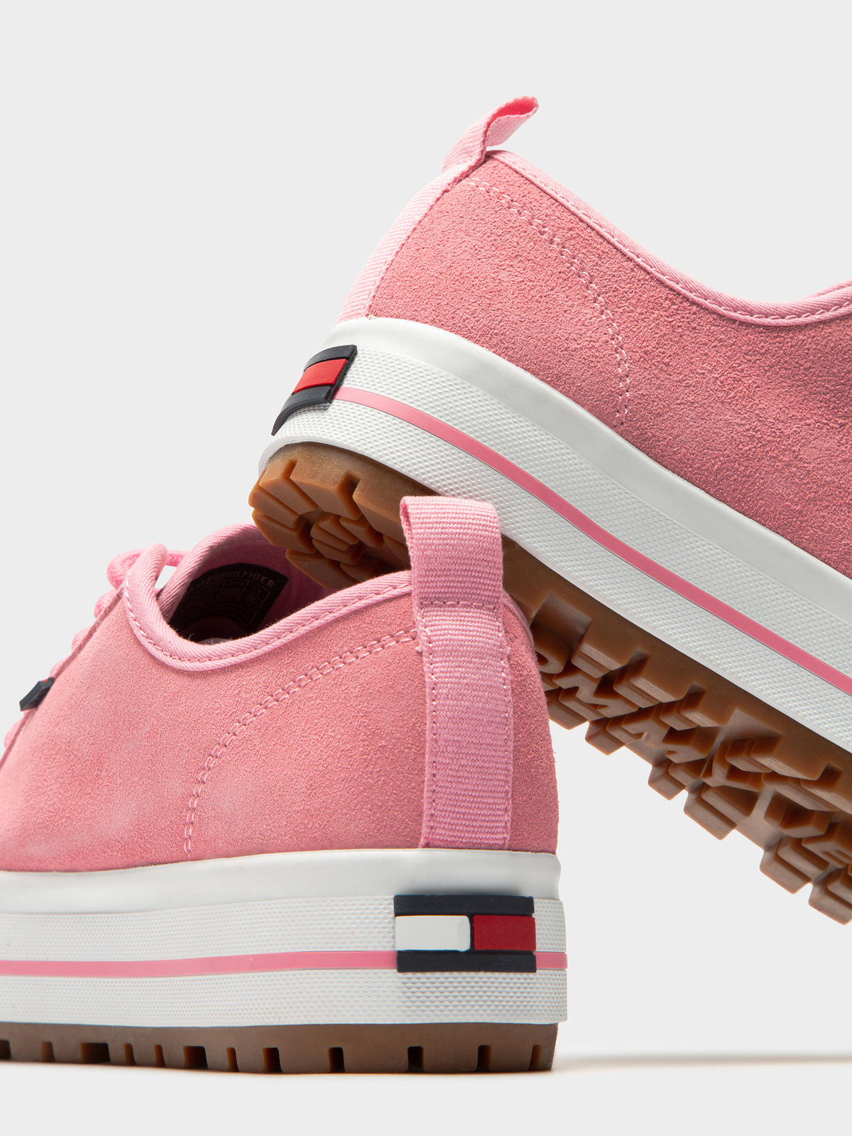 Womens Cleated Sneakers in Sea Pink