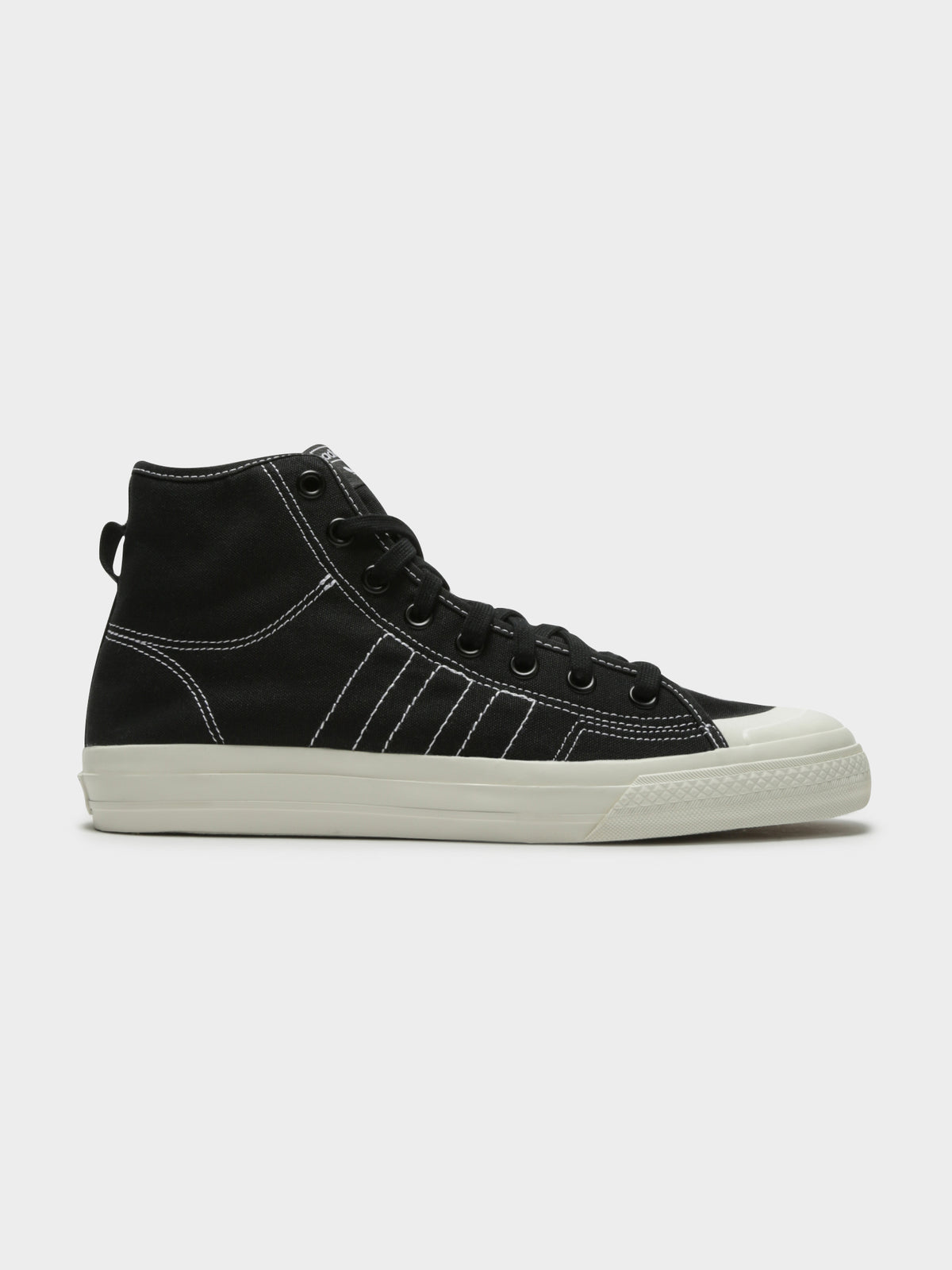 Mens Nizza High Top Sneakers in Black
