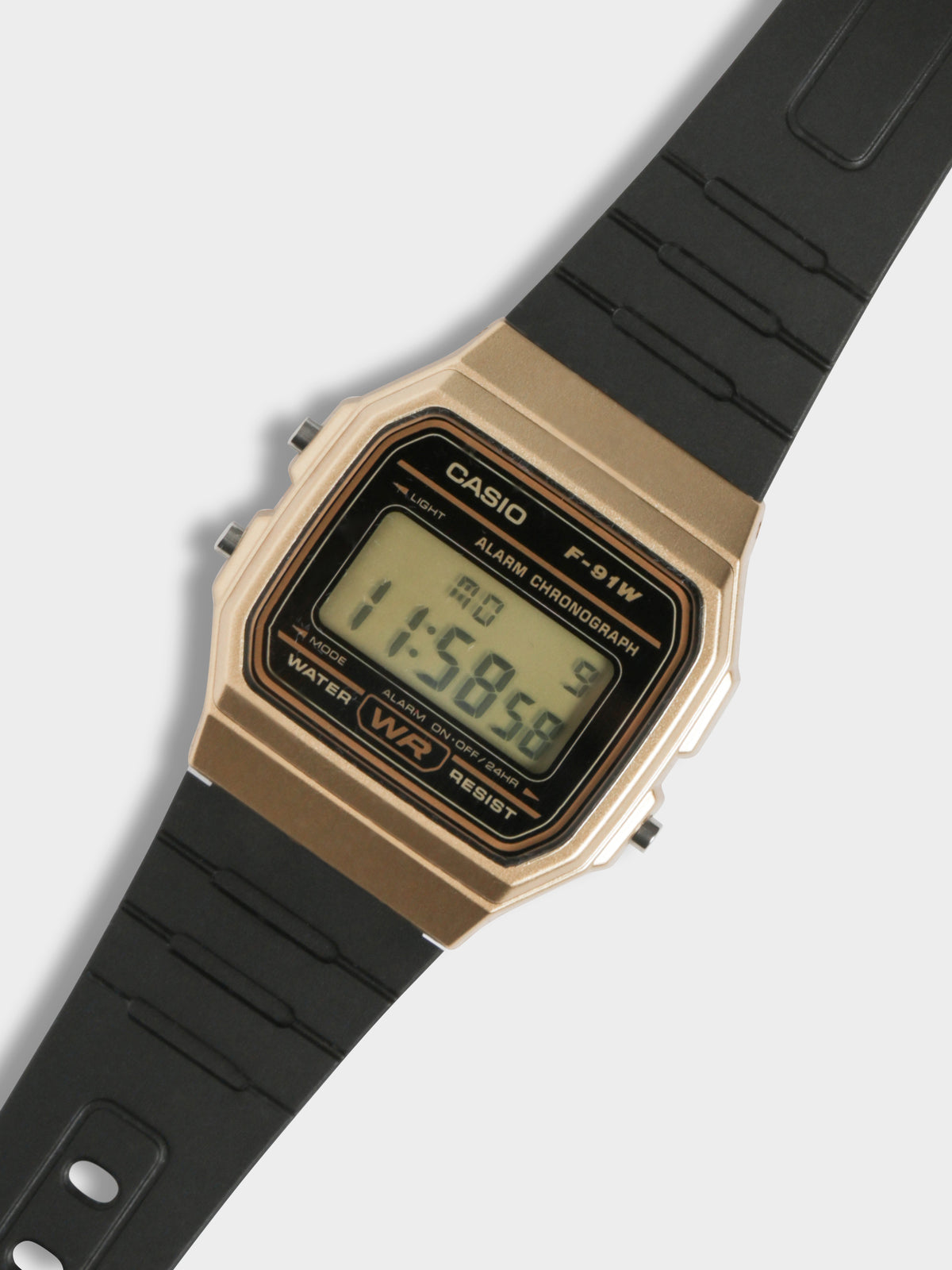 Mens Digital Vintage Watch in Black & Gold