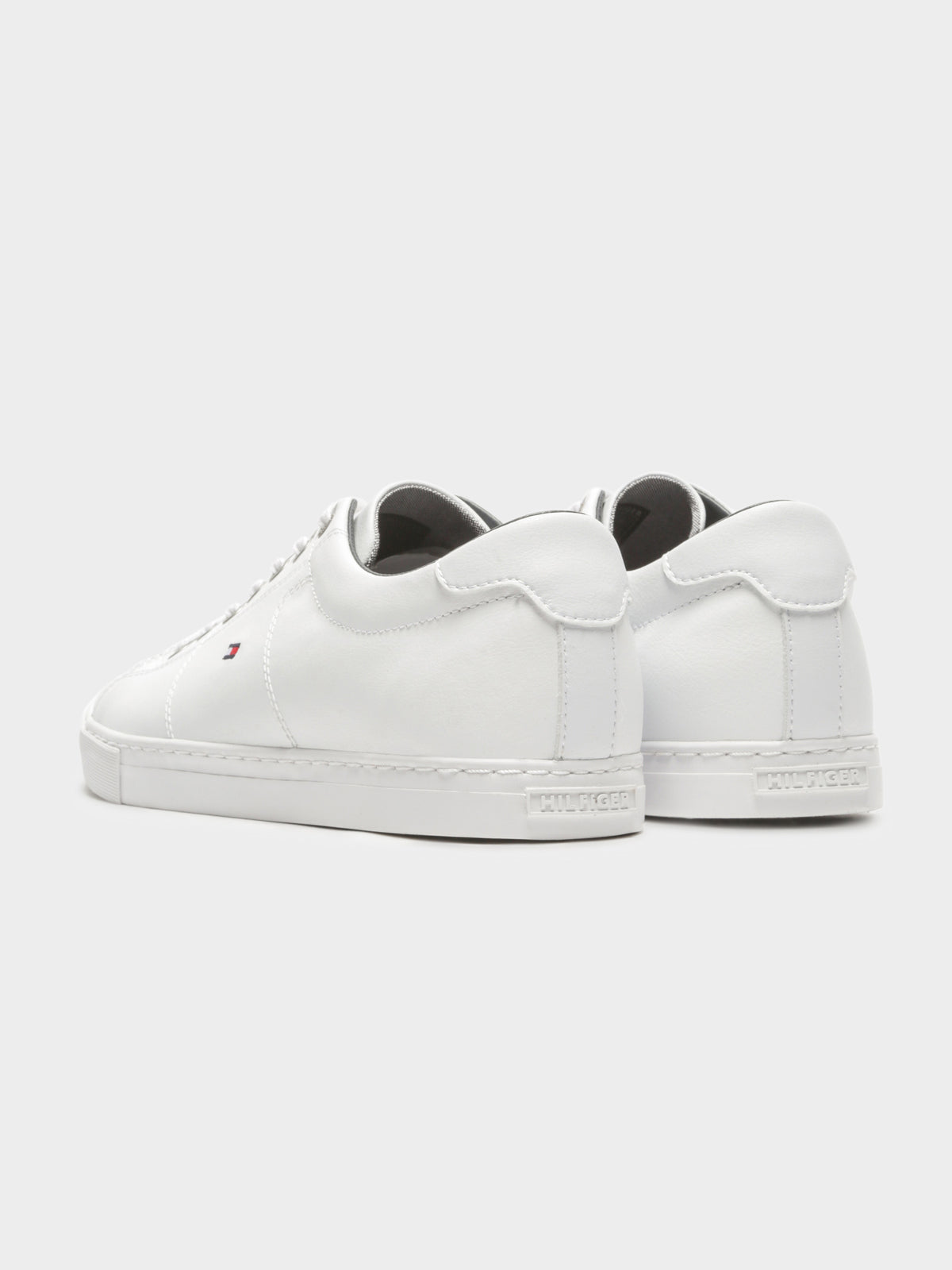Mens Essential Sneaker in White Leather