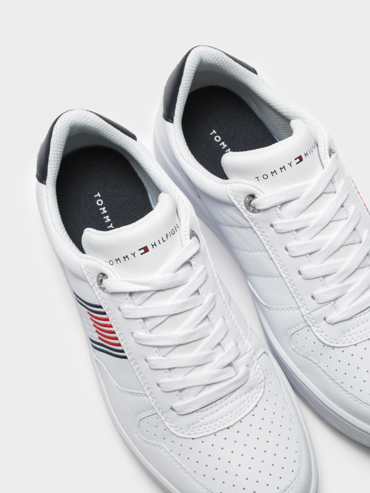 Mens Basket Low Cupsole Sneakers in White