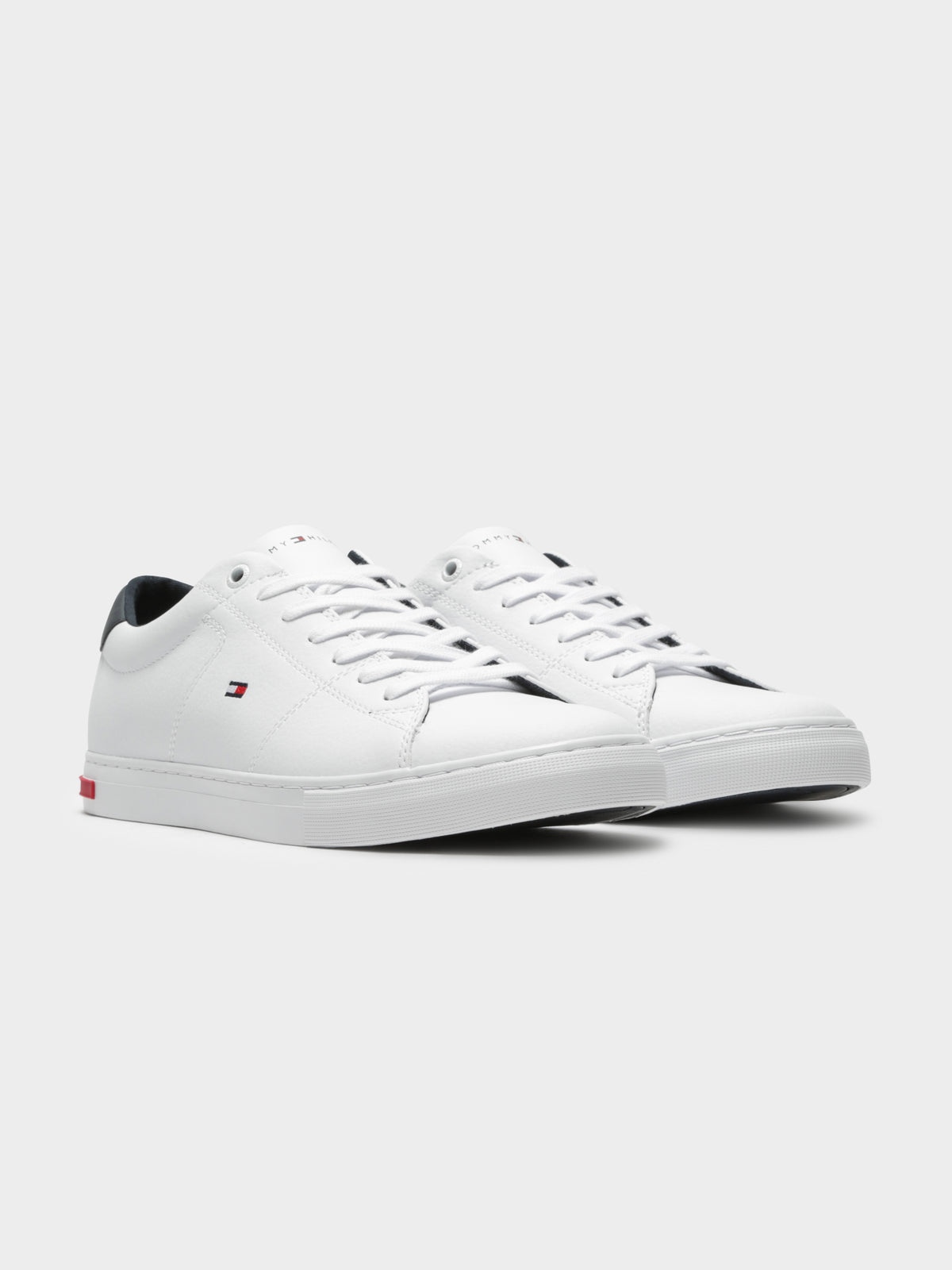 Essential Leather Detail Vulc Sneakers in White