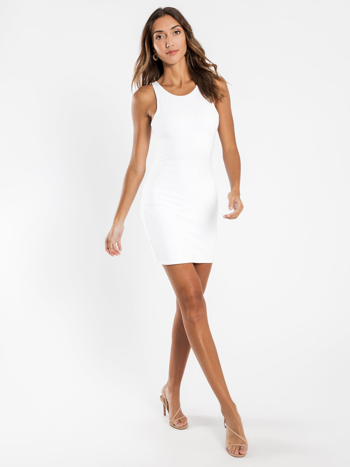 Chicago Jersey Dress in White