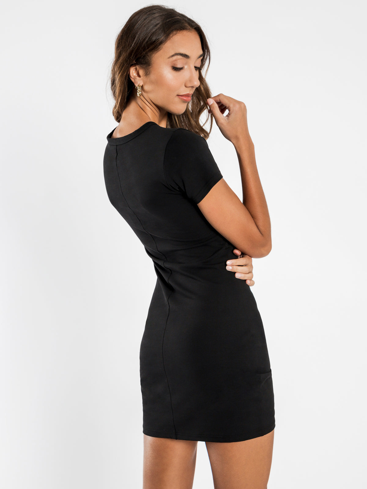 Phoenix Jersey Dress in Black