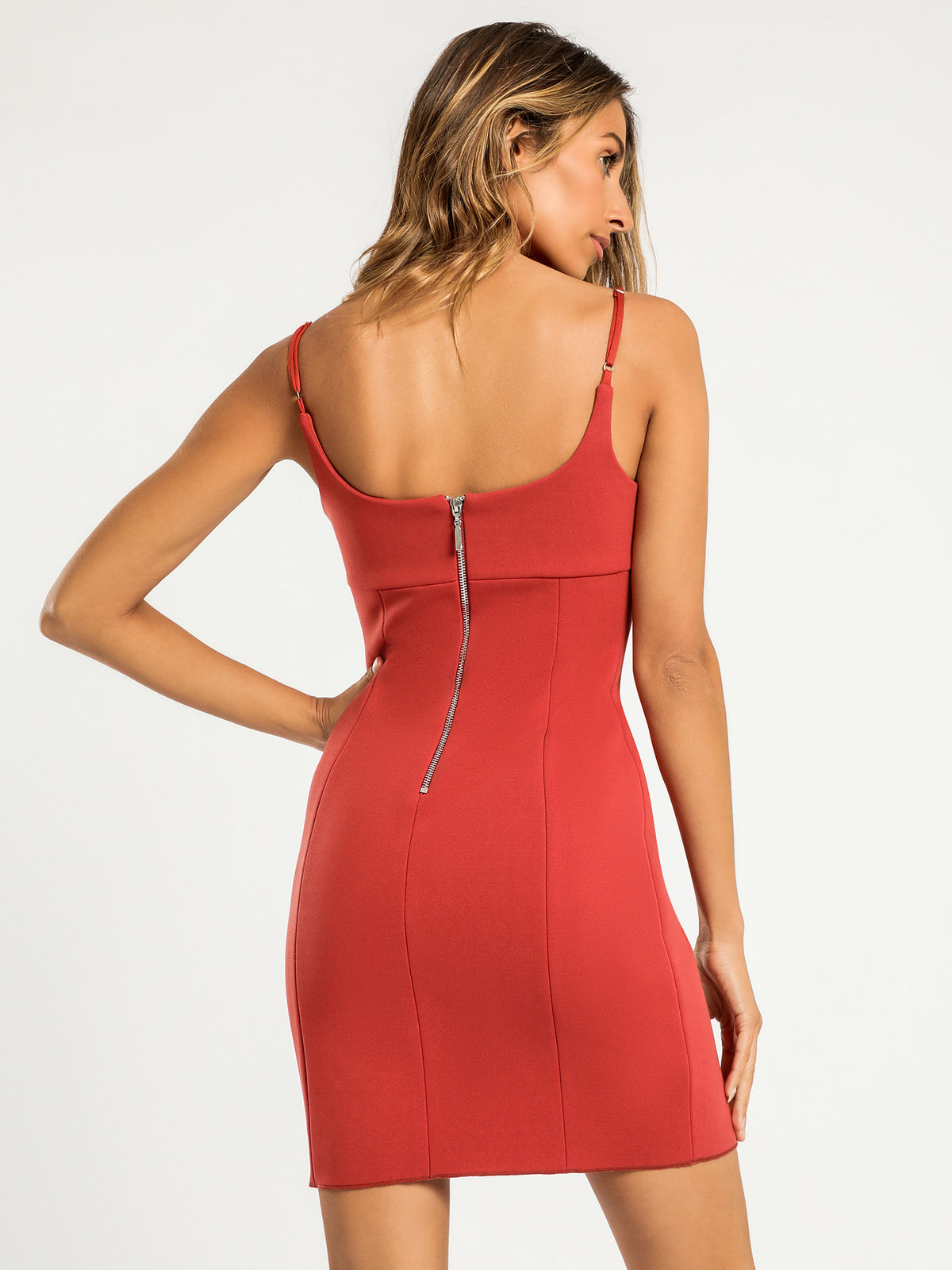 Jenna Bonded Dress in Rose