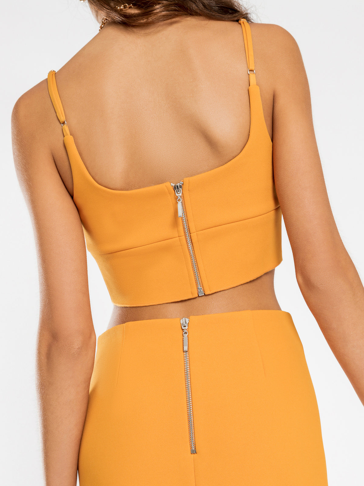 Jenna Crepe Top in Marigold
