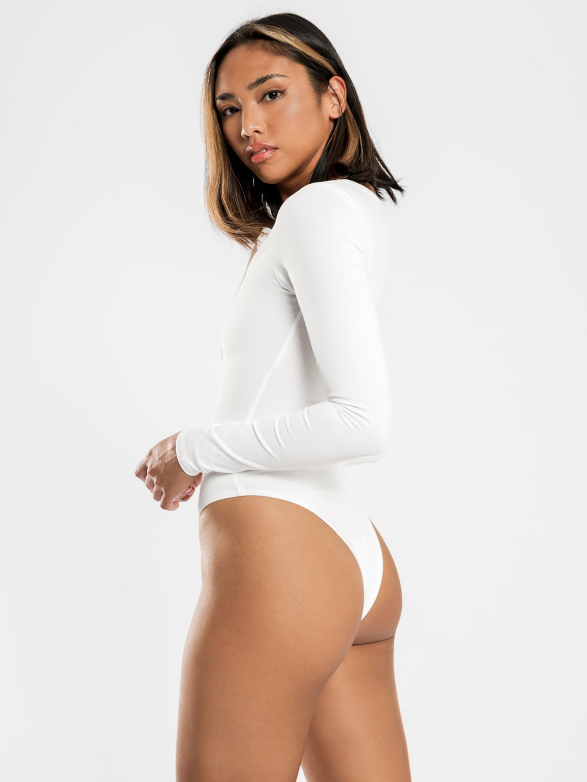 Sinclair Henley Bodysuit in White