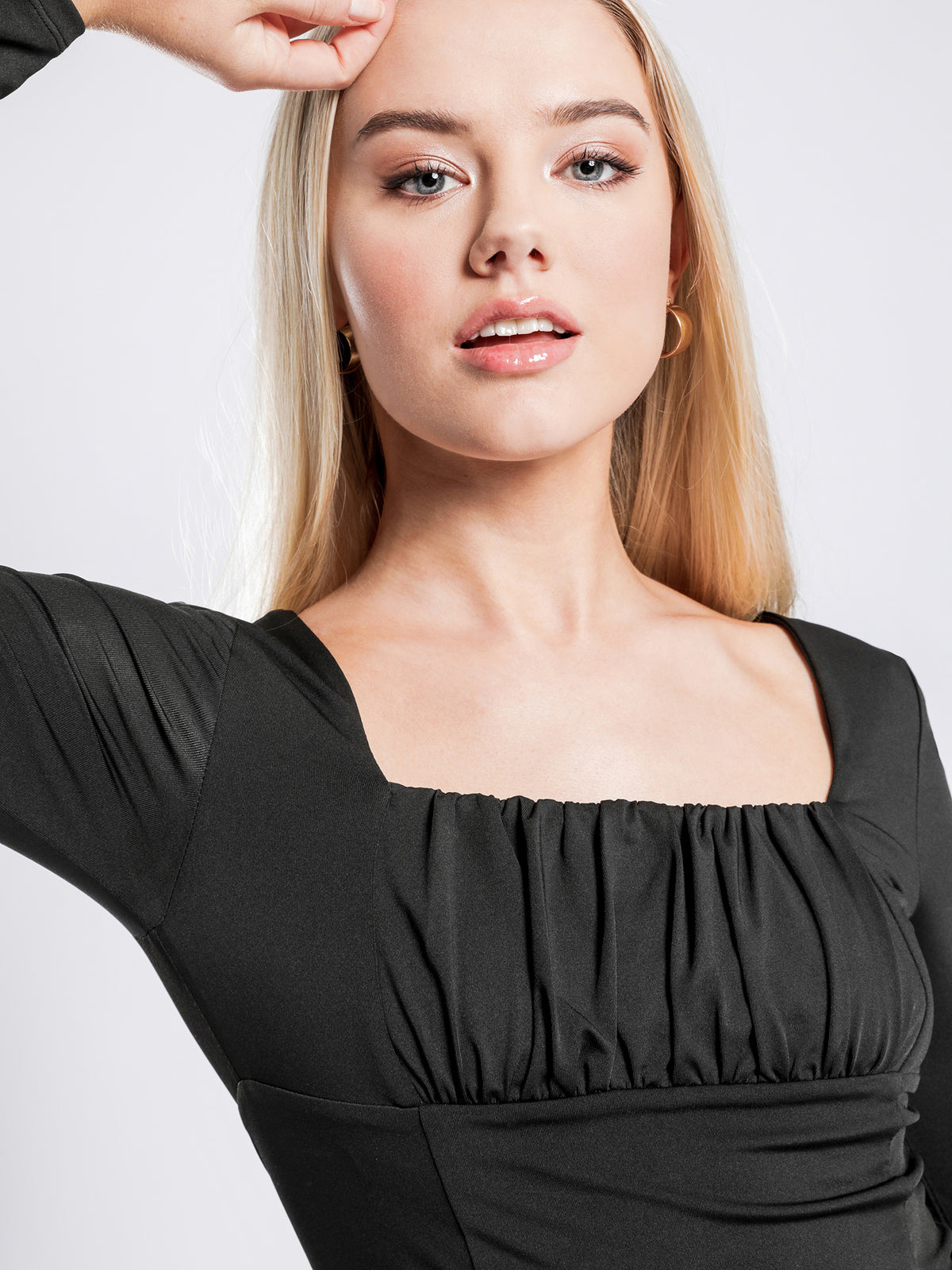 Daphne Long Sleeve Top in Black