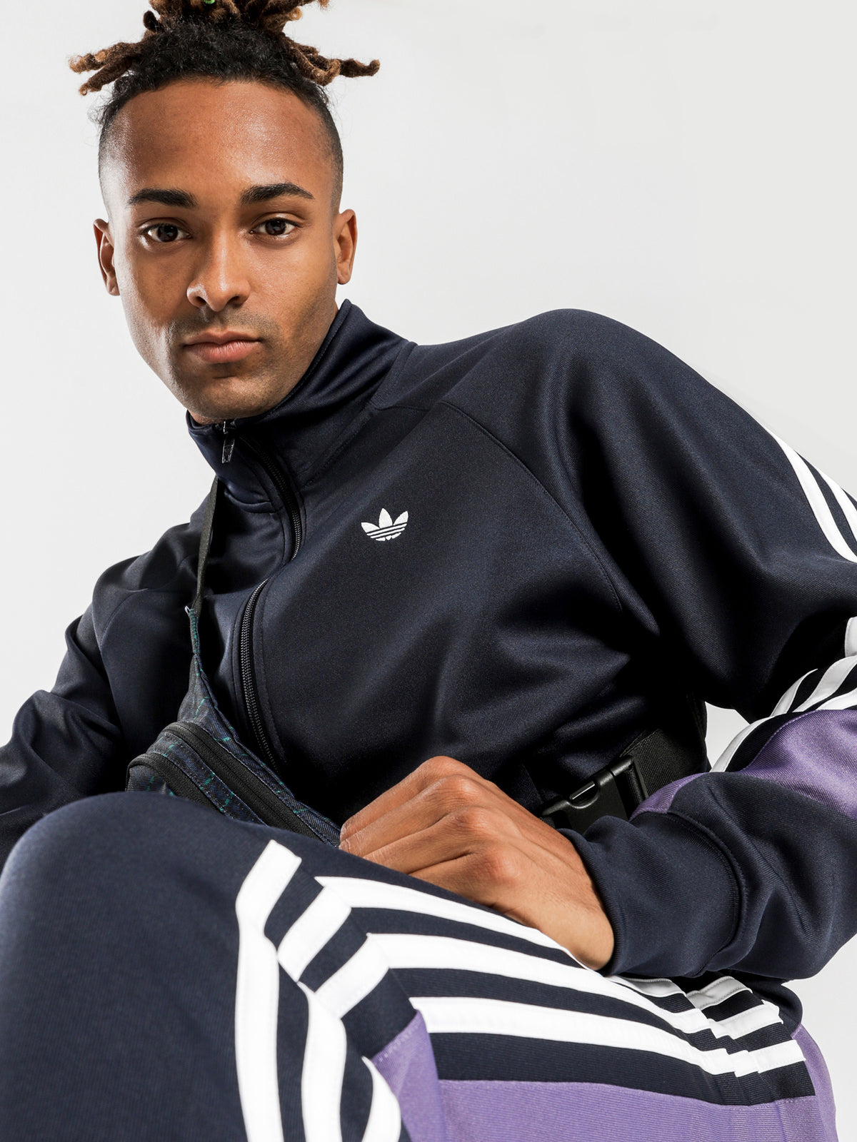 3 Stripes Wrap Track Top in Ink