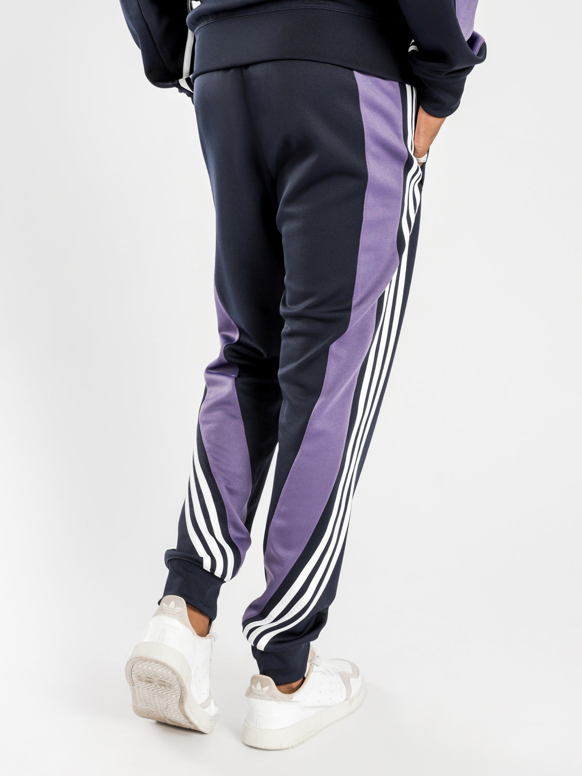 3 Stripe Wrap Track Pants in Ink