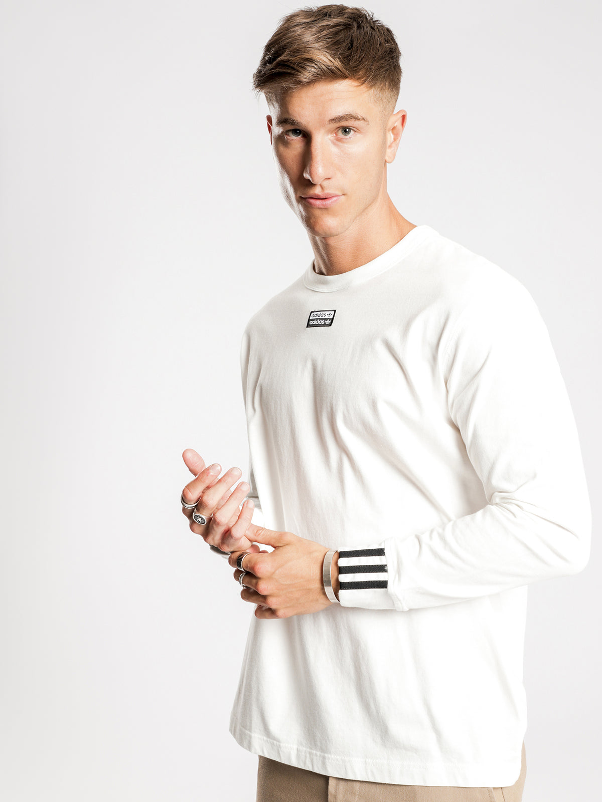R.Y.V Long Sleeve T-Shirt in White